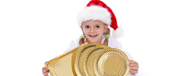 Manualidades de Navidad con platos de cartón