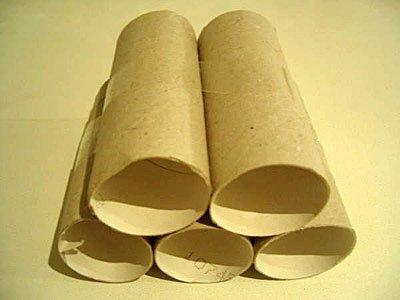 Coche con rollos de papel higi nico manualidad reciclada - Rollos de papel higienico decorados ...