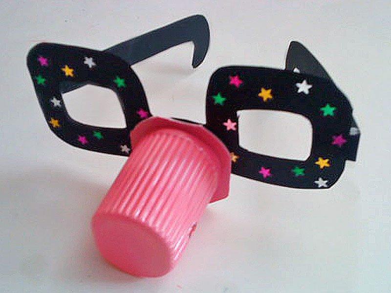Gafas divertidas con vaso de yogur manualidades de reciclaje - Manualidades para ninos faciles y divertidas ...