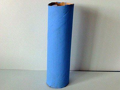 Micr fono con rollo de papel higi nico manualidad muy f cil - Se puede pintar el aluminio ...