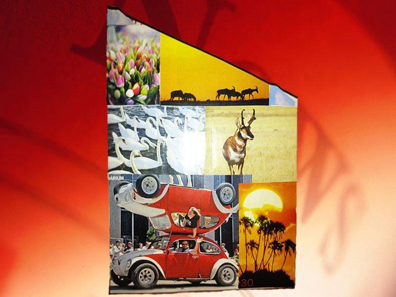 materiales una caja de cereales fotografías de revistas tijeras ...