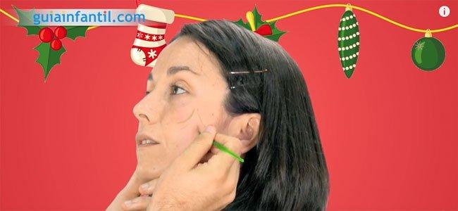 Maquillaje de Navidad. Paso 1