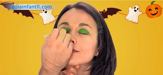 Maquillaje de bruja. Paso 1