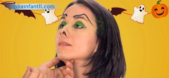 Maquillaje de bruja. Paso 3