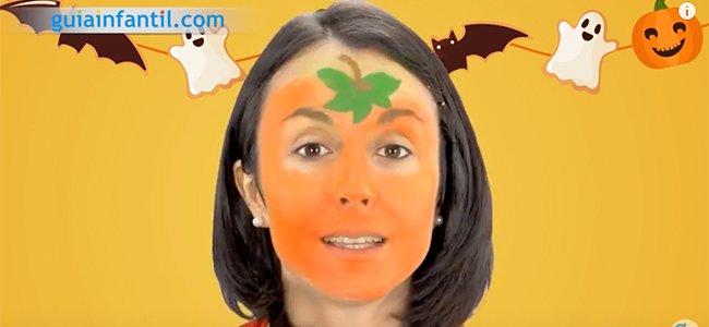 Maquillaje de calabaza para Halloween. Paso 3