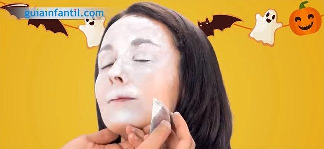 Maquillaje de Drácula. Paso 1