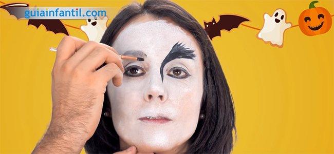 Maquillaje de Drácula. Paso 2