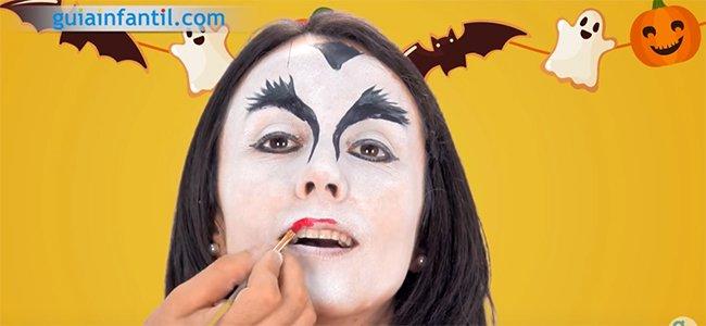 Maquillaje de Drácula. Paso 3
