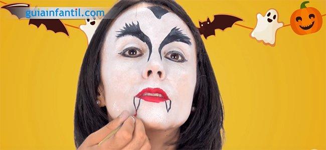 Maquillaje de Drácula. Paso 4