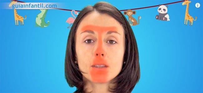 Maquillaje de jirafa. Paso 1