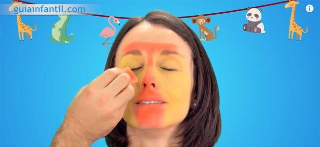 Maquillaje de jirafa. Paso 2