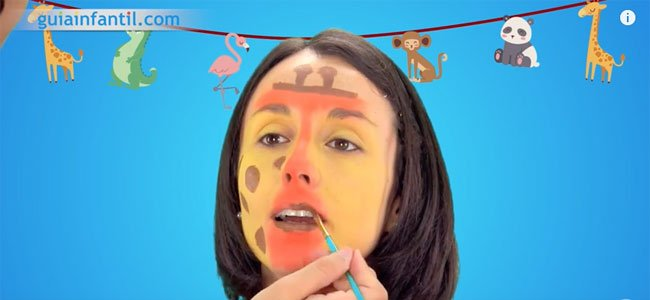 Maquillaje de jirafa. Paso 3
