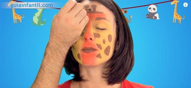 Maquillaje de jirafa. Paso 4