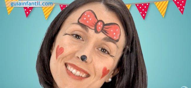Maquillaje de Minnie. Paso 4