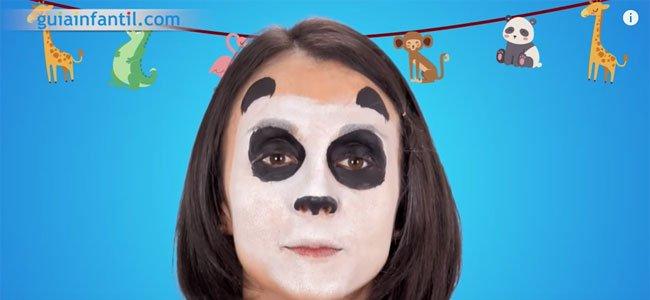 Maquillaje de oso panda. Paso 3