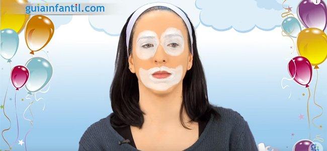 Maquillaje de payaso fácil. Paso 2