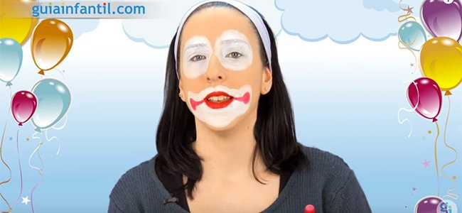 Maquillaje de payaso fácil. Paso 3