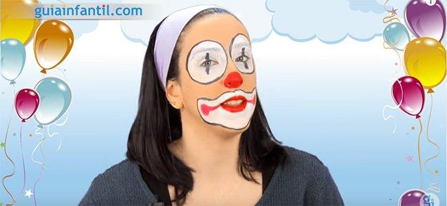 Maquillaje de payaso fácil. Paso 5