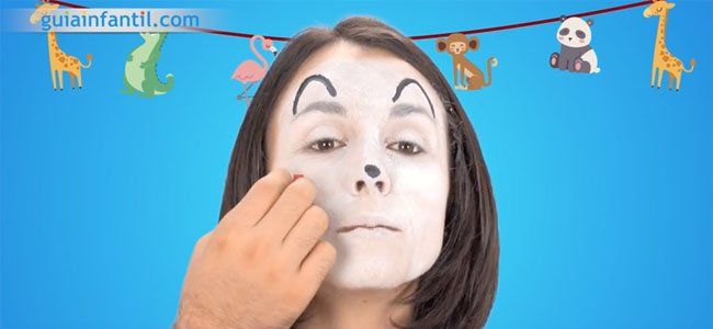 Maquillaje de ratón. Paso 2