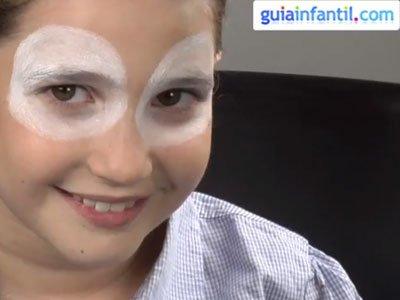 Maquillaje de reno para niños. paso 1