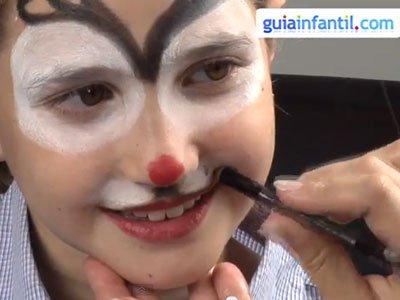 Maquillaje de reno para niños. paso 3
