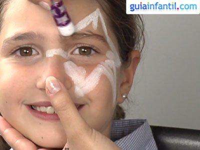 Maquillaje de estrella para niños. Paso 1