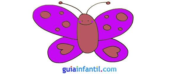 Cómo dibujar una mariposa, paso a paso.