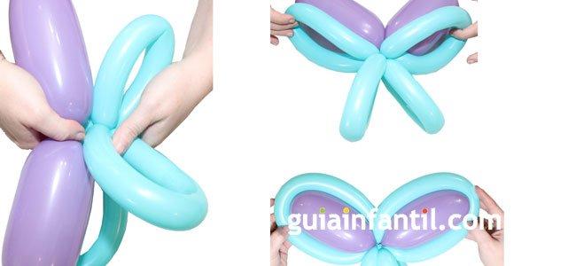 Mariposa con globos. Paso 3