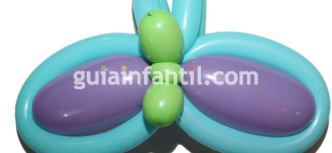 Mariposa con globos. Paso 5