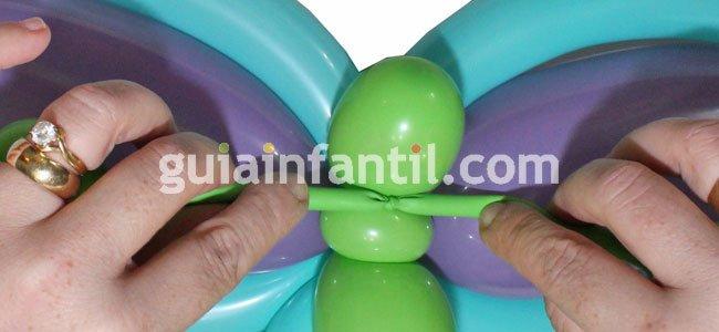 Mariposa con globos. Paso 6