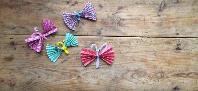 Mariposas de origami. Paso 3
