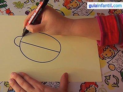 Dibujar una mariquita. Paso 1.