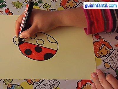 Dibujar una mariquita. Paso 3.