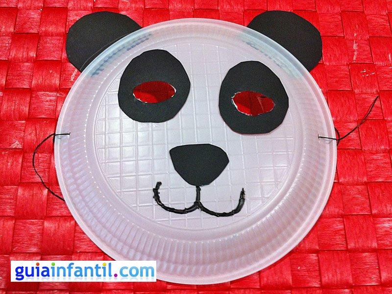 M  Scara De Oso Panda Con Plato De Papel  Manualidades De Carnaval