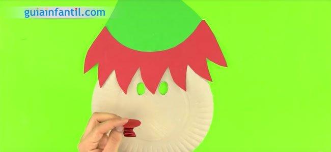 Máscara de elfo de Papá Noel. Paso 4