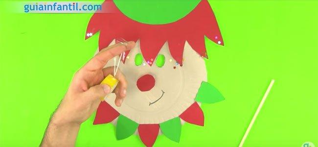Máscara de elfo de Papá Noel. Paso 5