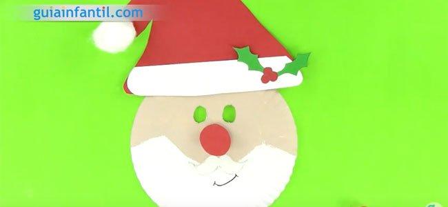 Máscara de Papá Noel. Paso 5