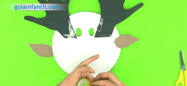 Cómo hacer una máscara de reno. Paso 4