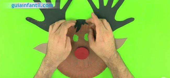 Cómo hacer una máscara de reno. Paso 2