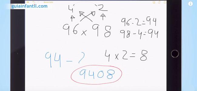 Truco de multiplicación para niños