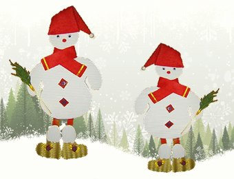 Manualidad muñeco de nieve de cartón