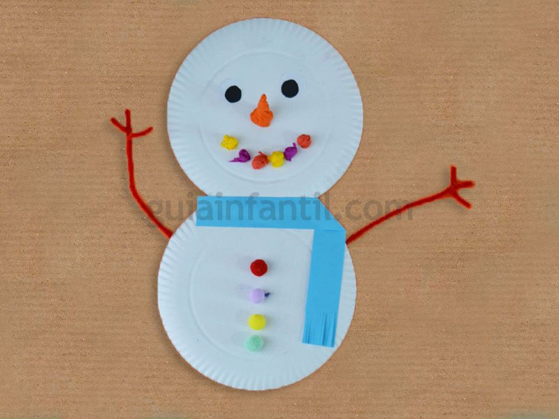 Manualidades para ni os hombre de nieve 2 - Manualidades navidenas para ninos pequenos ...