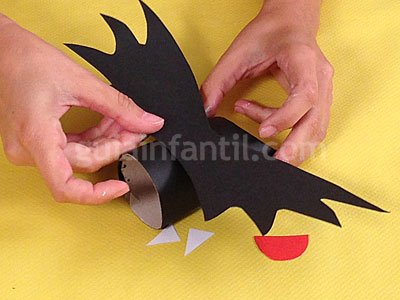 Murciélagos de Halloween. Paso 4