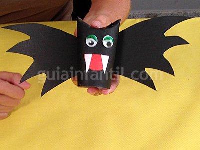 Murciélagos de Halloween. Paso 5