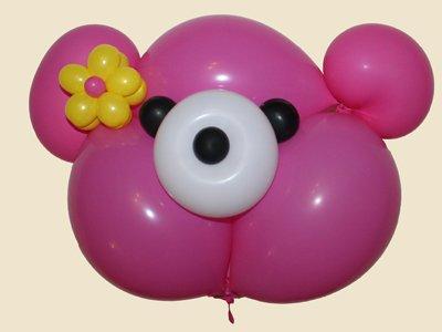 Oso con globos. Paso 5.