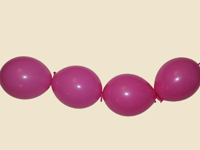 Oso con globos. Paso 6.