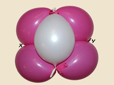 Oso con globos. Paso 8.