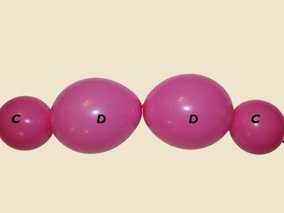 Oso con globos. Paso 9.