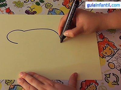 Dibujar un oso. Paso 1.