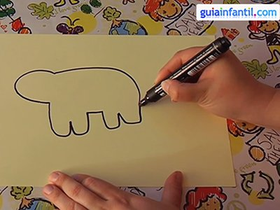 Dibujar un oso. Paso 2.